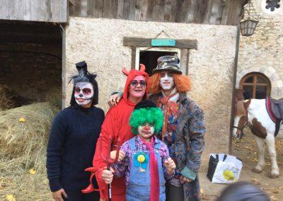hallowen parents enfants poney club des champs forts